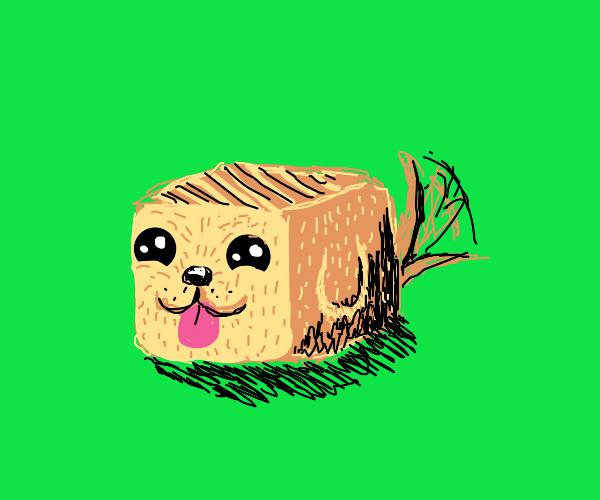 Cute cube doggo
