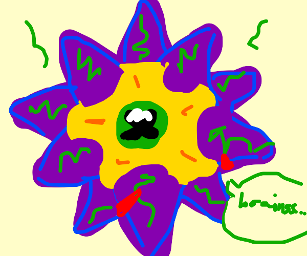 Starmie from Pokémon but zombified