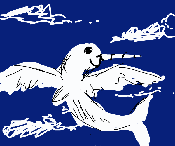Narwhal with wings