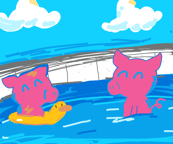 pig pool party