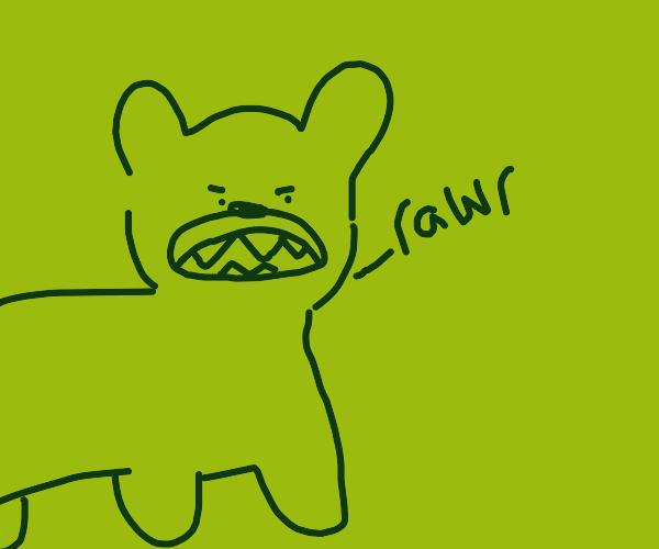 bear goes rawr