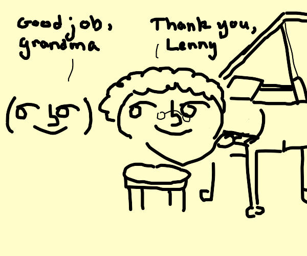 grandma lenny loves to play piano