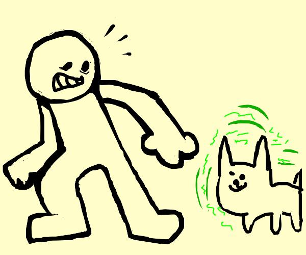 Man Afraid of Radioactive Dog