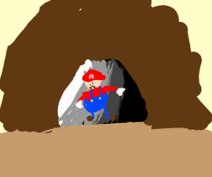Mario in a Cave
