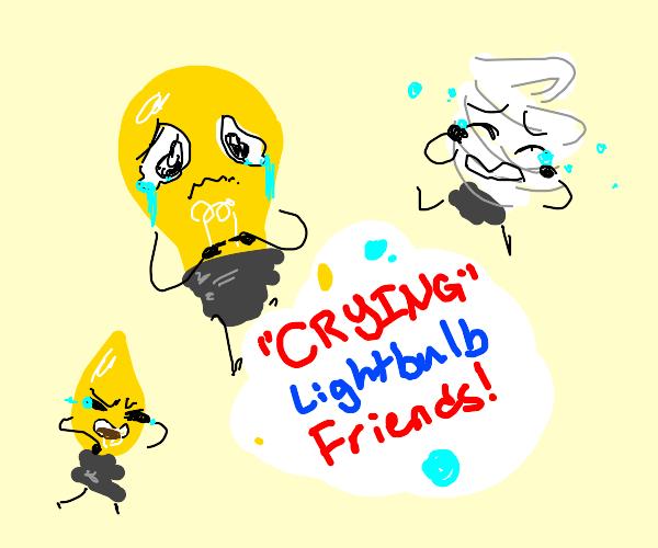 Crying Breakfast Friends:Lightbulb Edition