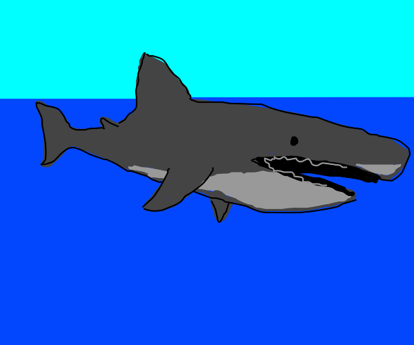 Shark with a VERY LONG mouth like really long