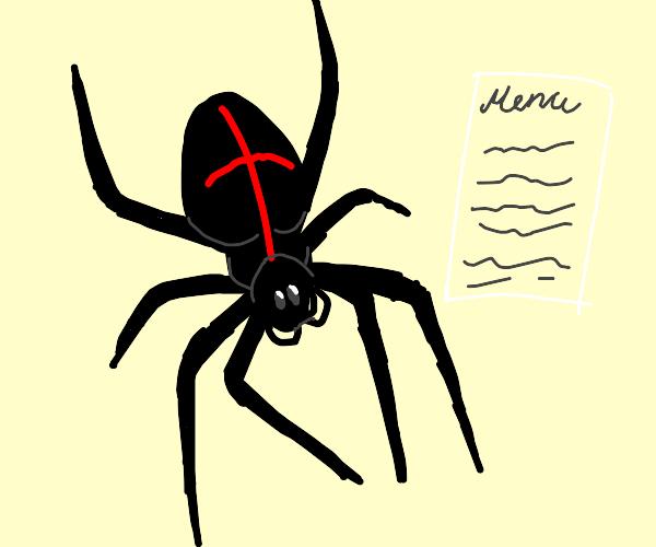 a Spider checks the Menu