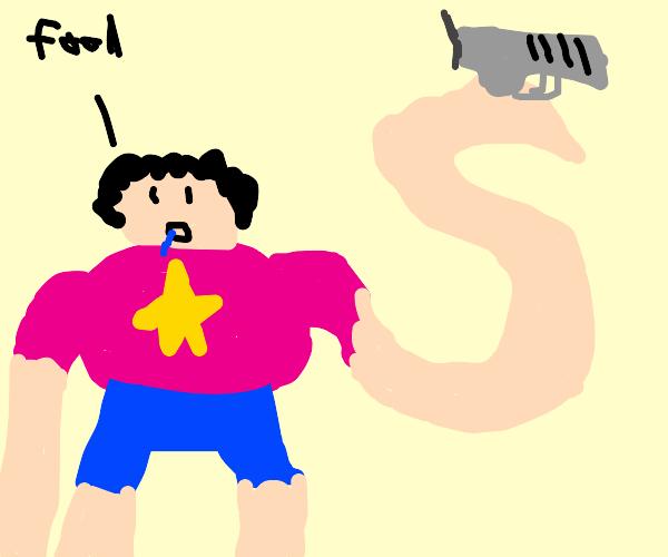 Steven universe with a gun