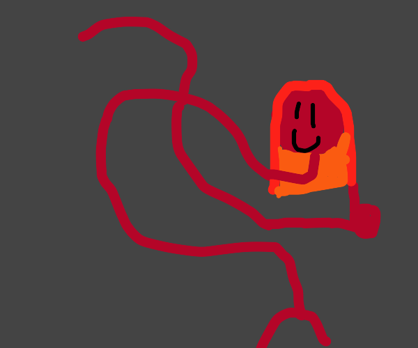 Hot red squiggly girl