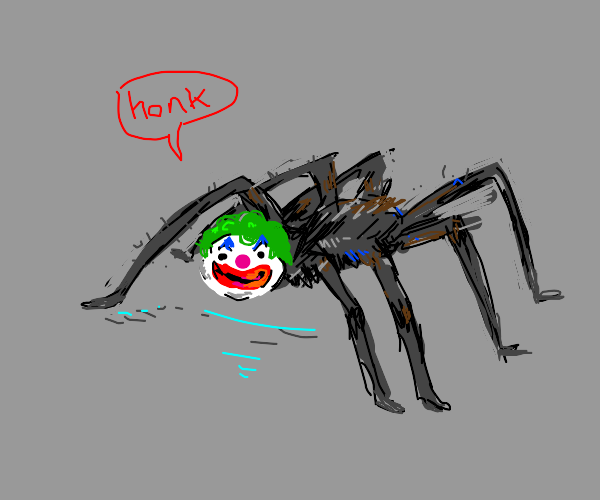 Clown spider monster