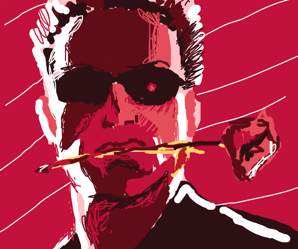 Terminator with a rose