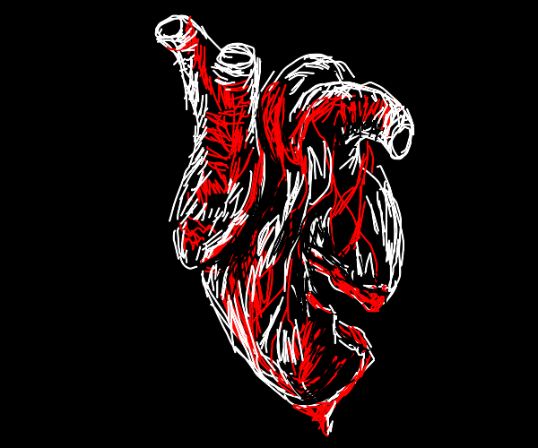 cracked realistic heart