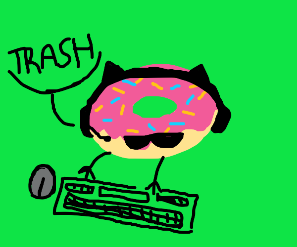 Gamer doughnut declares that you are trash