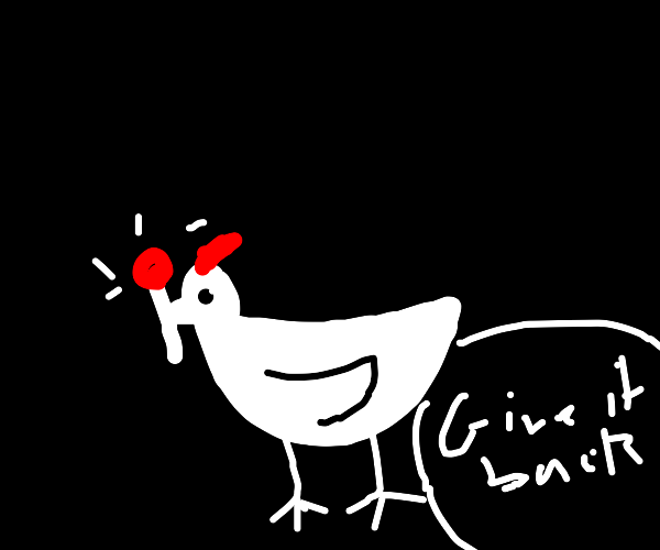 Rooster steals your magic wand