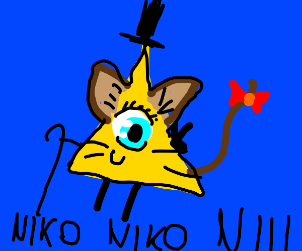 Bill Cipher cosplaying an anime character