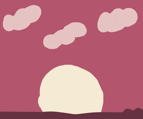 a very pretty sunset