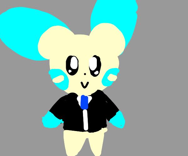 rabbit in a tuxedo