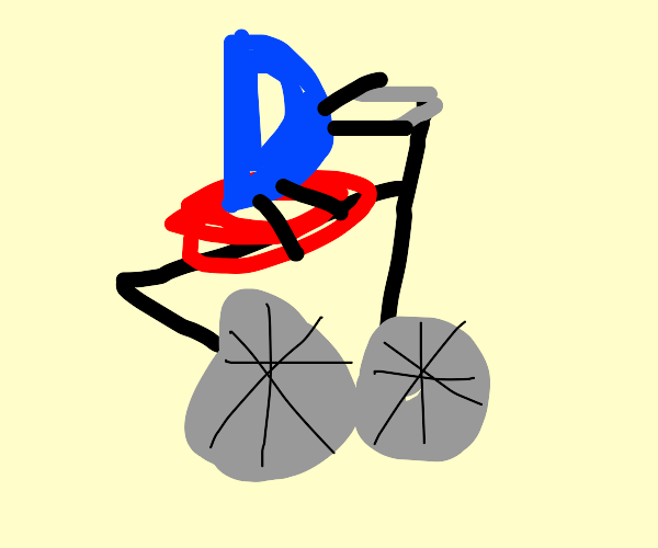 Drawception riding bicycle