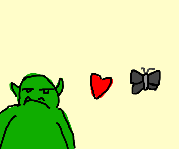 An orc and a moth in love