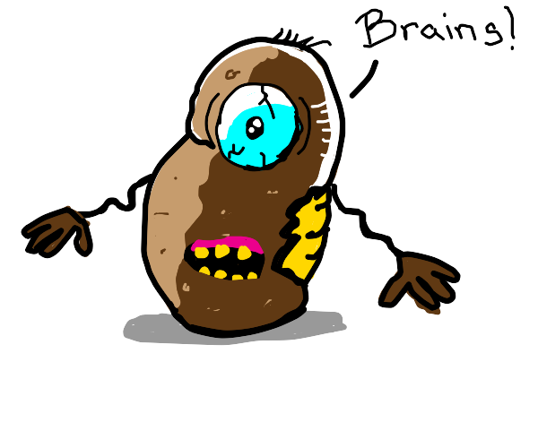Zombie mr potato head wants brains