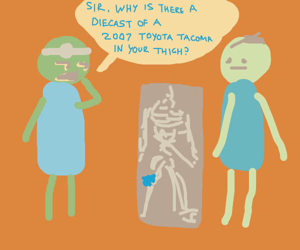 Doctor do an x-ray and find something strange