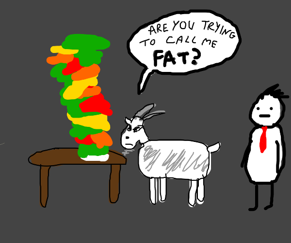 goat complains about meal size to waiter