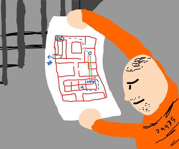 Prisoner makes escape plan