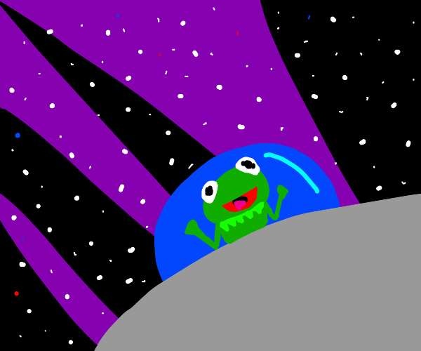 KERMIT GOING TO OUTER SPACE