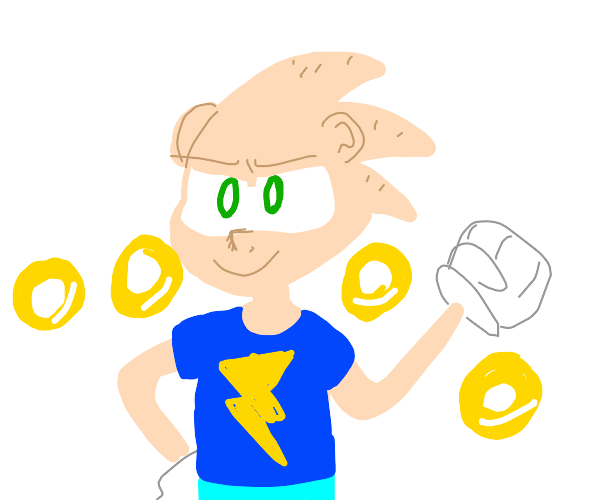 Sonic in human form