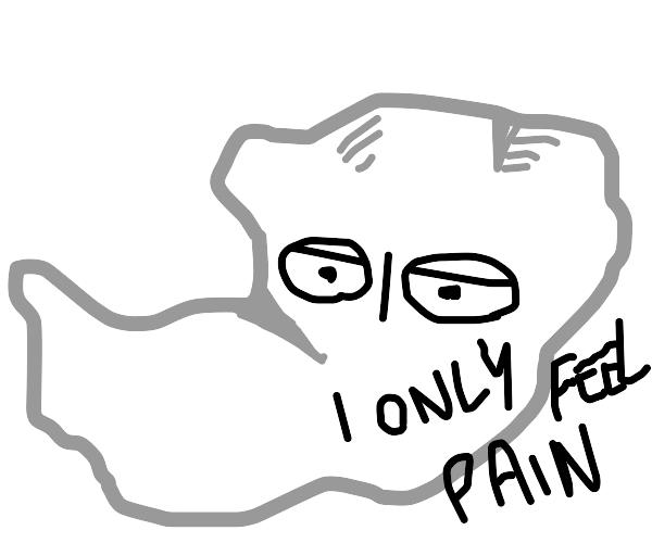 Depressed crumpled paper