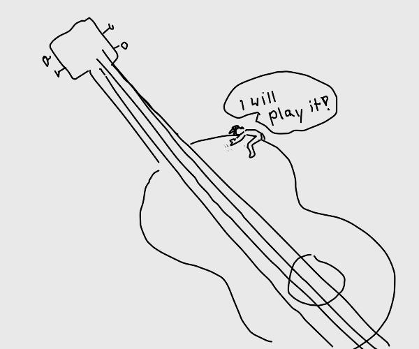 Tiny man trys to play big ukelala?