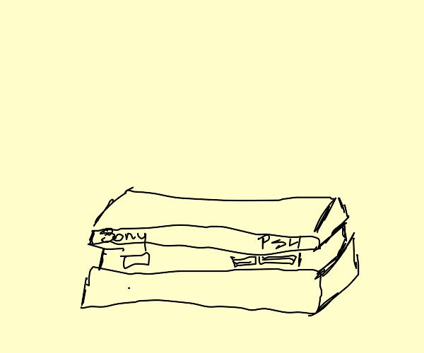 A playstation 4.