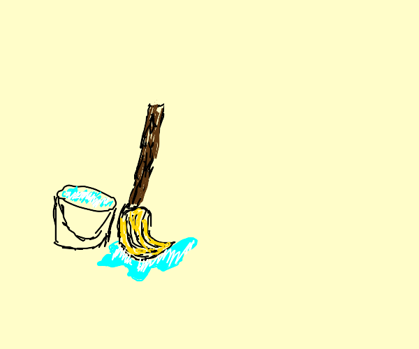 A mop and a Bucket