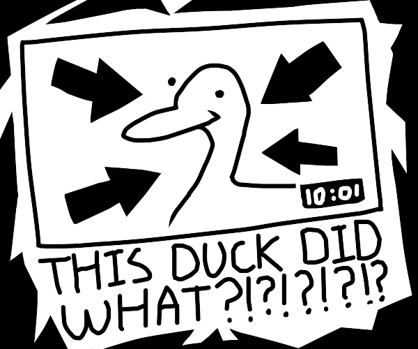 Clickbait on a duck video