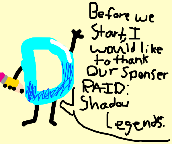 drawception is sponsored by RAID shadow legnd