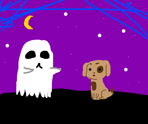 Dog and ghost