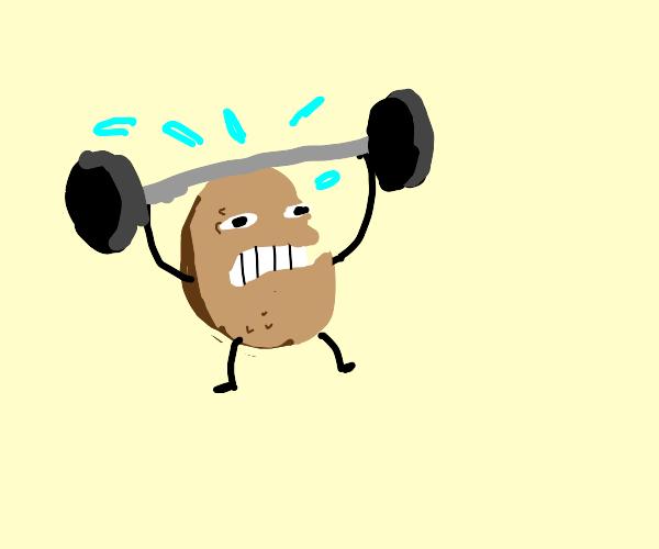 Potato lifting weights