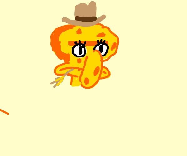 Child of SpongeBob+Squidward as a cowboy