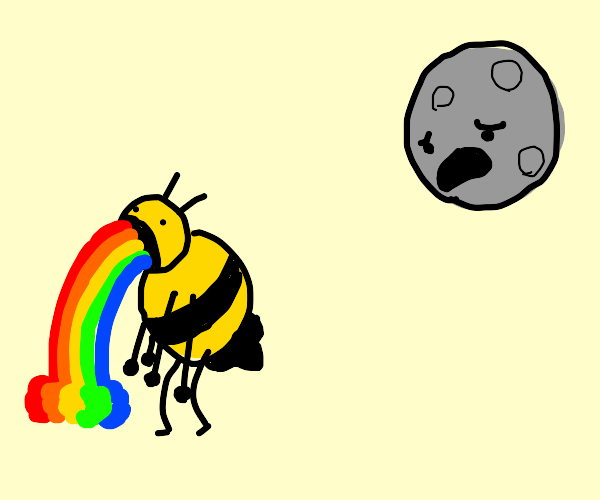 bee barfs colours and moon looks