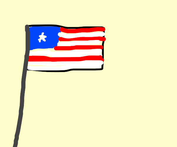 USA flag but with one star