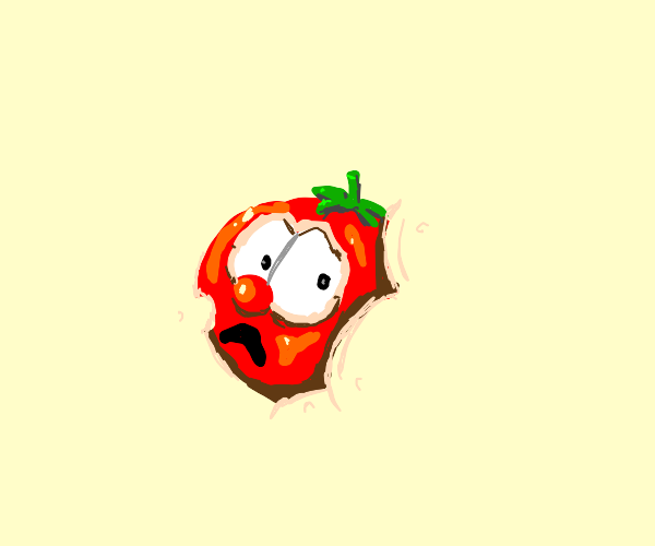 Bob the Tomato is consumed by the background
