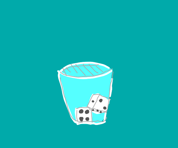 dice in a cup