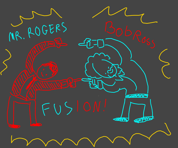 Bob Ross and Mr. Rogers perform Fusion Dance