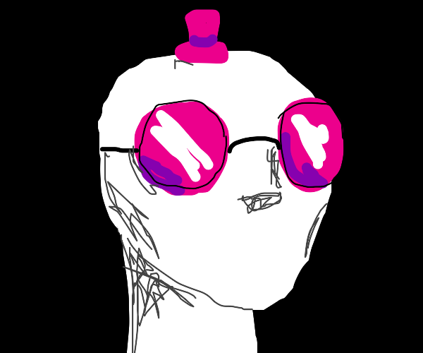 Mannequin with Pink glasses and Hat