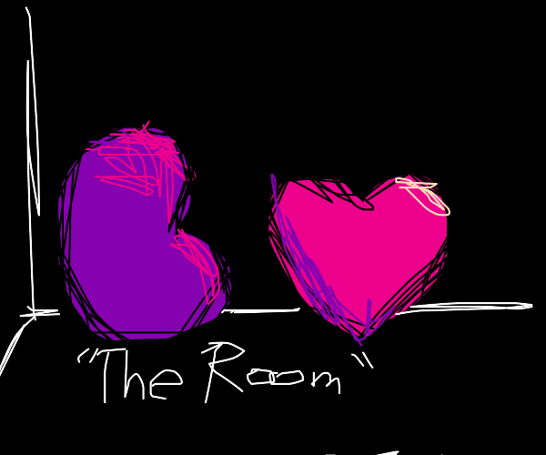 Purp Jellybean and Heart in The ROOM