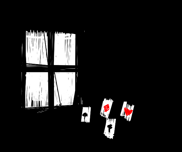 Window playing Solitaire