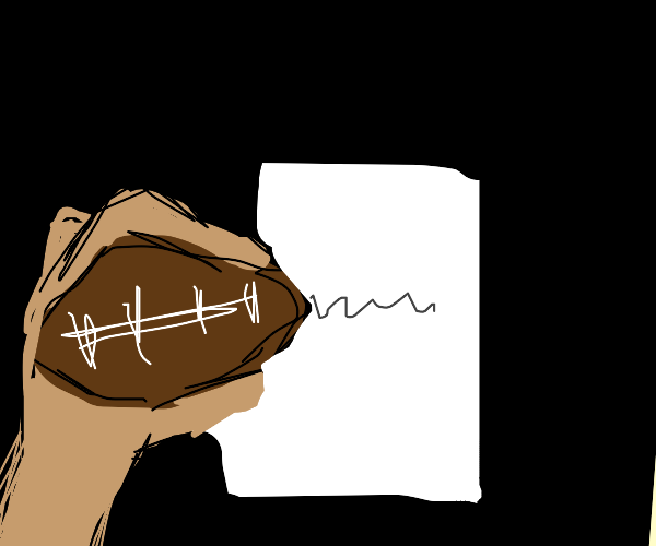 Writing with a Football