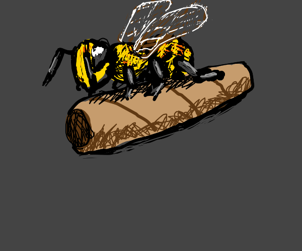 Bee Next to a Fat Cigar