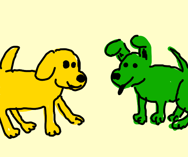 Yellow & Green dog