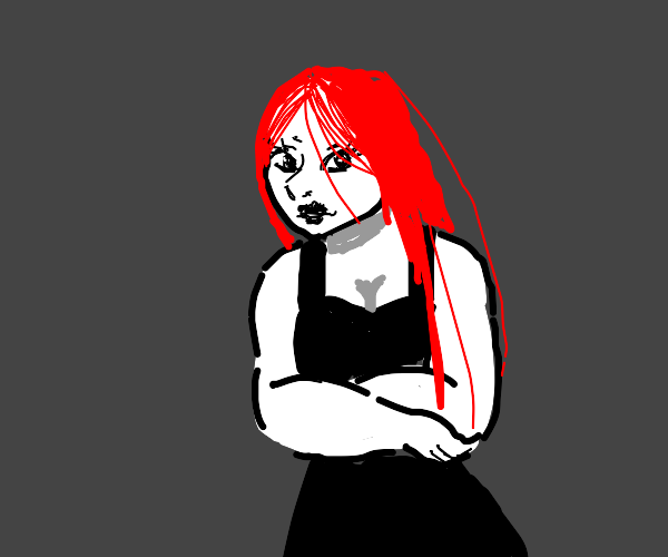 Evil woman with red hair